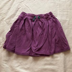Girls Mini Boden Purple Jersey Skirt